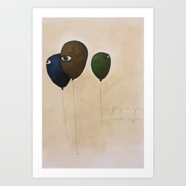 fly high wide eyes Art Print