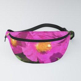 Papery Pinky Purple Rockrose by Reay of Light Photography Fanny Pack