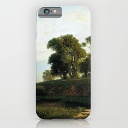 View Of Lakhta Near St Petersburg 1850 By Lev Lagorio   Reproduction   Russian Romanticism Painter iPhone Case