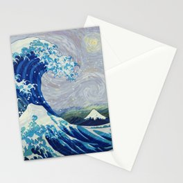 The Starry Night Wave Stationery Cards