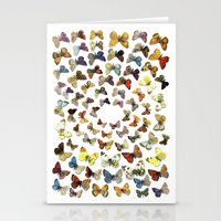 butterflies Stationery Cards featuring Butterflies by Ben Giles