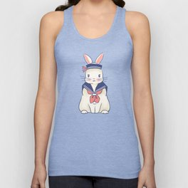 Sailor Bunny At The Beach Unisex Tank Top
