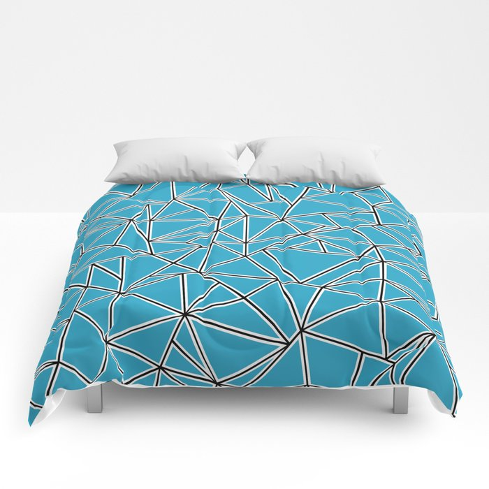 Shattered Ab Blue Comforters