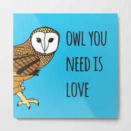 Owl You Need Is Love Metal Print