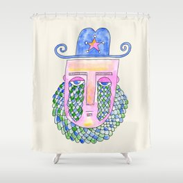 Sea Sheriff Shower Curtain
