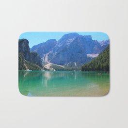 Emerald lake in Tyrol Bath Mat