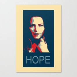 time for a hope speech Canvas Print