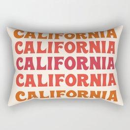 Stylin' - 70's retro throwback cali socal 1970s style art decor minimalist Rectangular Pillow