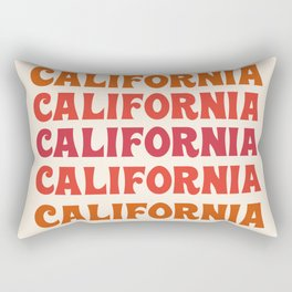 Stylin' - 70's retro throwback cali socal 1970s style art decor minimalist Rectangular Pillow