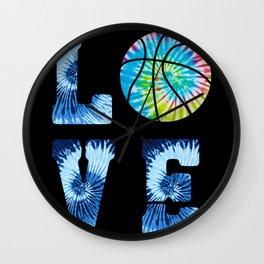 Basketball Love Court Hoop Athletic Wall Clock