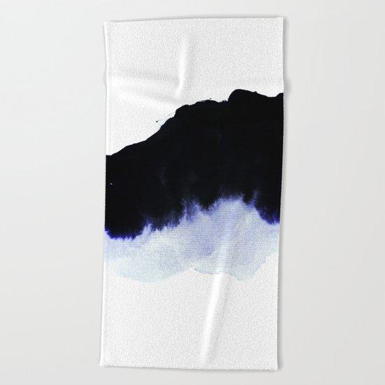 black & blue Beach Towel