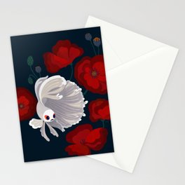Bettas and Poppies Stationery Cards