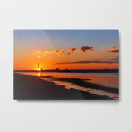 Orange Sunshine Sky Metal Print
