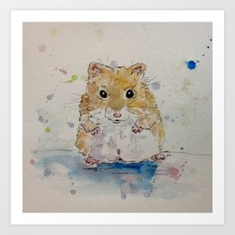 Syrian hamster painting. Art Print