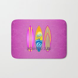 Born To Surf, In Pink Bath Mat