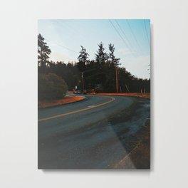 Oregon Road Metal Print