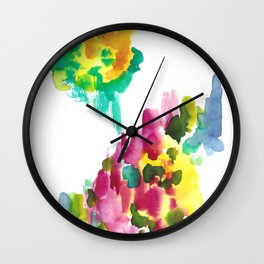 180802 Beautiful Rejection 15 | Colorful Abstract Wall Clock