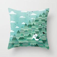 Tree Hugger (Spring & Summer version) Throw Pillow
