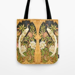 Art Nouveau Silver Pheasant with Rhododendron Tote Bag
