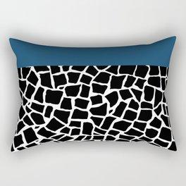 British Mosaic Navy Boarder Rectangular Pillow
