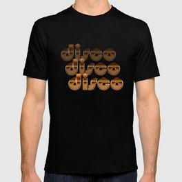 Metallic Seventies Disco Emblem T-shirt