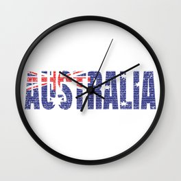 Australia Flag Vintage Australian National Country Gift Wall Clock