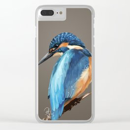 Bird Kingfisher Clear iPhone Case