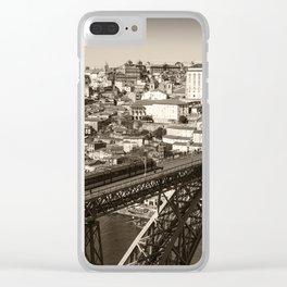 Porto sepia Clear iPhone Case