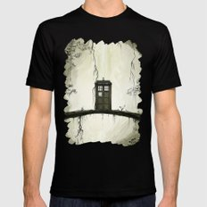 Tardis in the forest Black Mens Fitted Tee MEDIUM