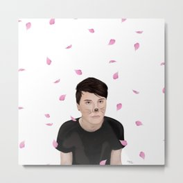 Cherry Blossom Dan Howell (danisnotonfire) Metal Print