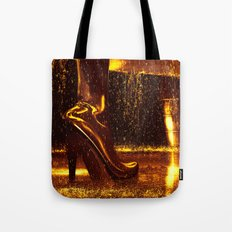 Shiny Boots of Leather Tote Bag