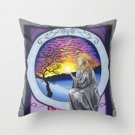 Raising the Solstice Sun (2016) Throw Pillow