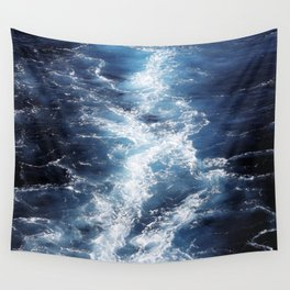 Marble Sea Waves Wall Tapestry