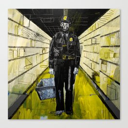Policeman zombie in the looted supermarket. 2011. Canvas Print