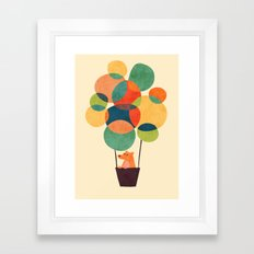 Whimsical Hot Air Balloon Framed Art Print
