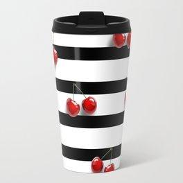 Cherry Stripes Travel Mug