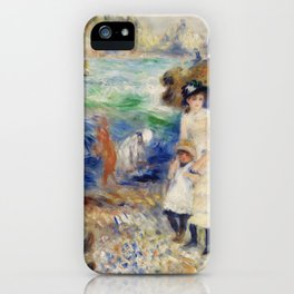 Children on the Seashore, Guernsey (Enfants au bord de la mer à Guernesey) (1883) by Pierre-Auguste iPhone Case