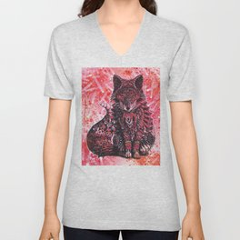 Ruby Fox Unisex V-Neck