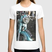 moto T-shirts featuring Vintage moto by Johanna Arias