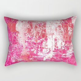 Roses Play Color On Ice Rectangular Pillow
