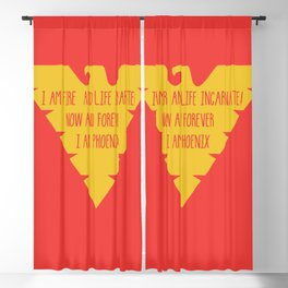 i am fire and life incarnate now and forever i am dark phoenix Blackout Curtain