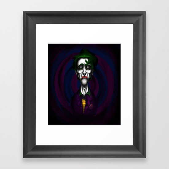 Sad Joker Framed Art Print