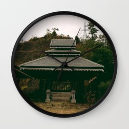 Stranded Here Wall Clock