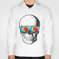 psychadelic Hoodies featuring Psychadelic Skull Tiedye glasses by Chara Chara
