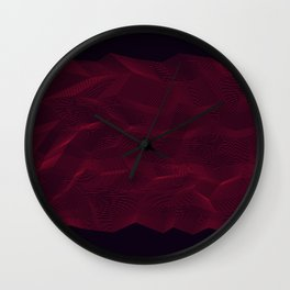 Facets - Dark Purple Wall Clock