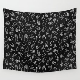 Mixed Signals Pattern in Black Wall Tapestry