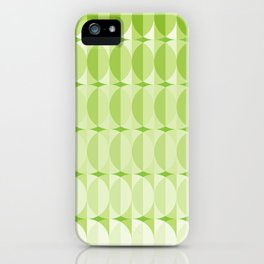 Leaves at springtime - a pattern in green iPhone Case
