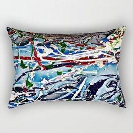 Woman swimming Rectangular Pillow