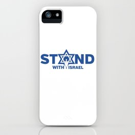 I Stand With Israel Star Of David Jewish Support Humor Cool Pun Design Gift iPhone Case