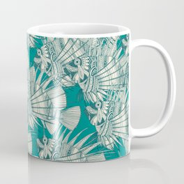 fish mirage teal Coffee Mug